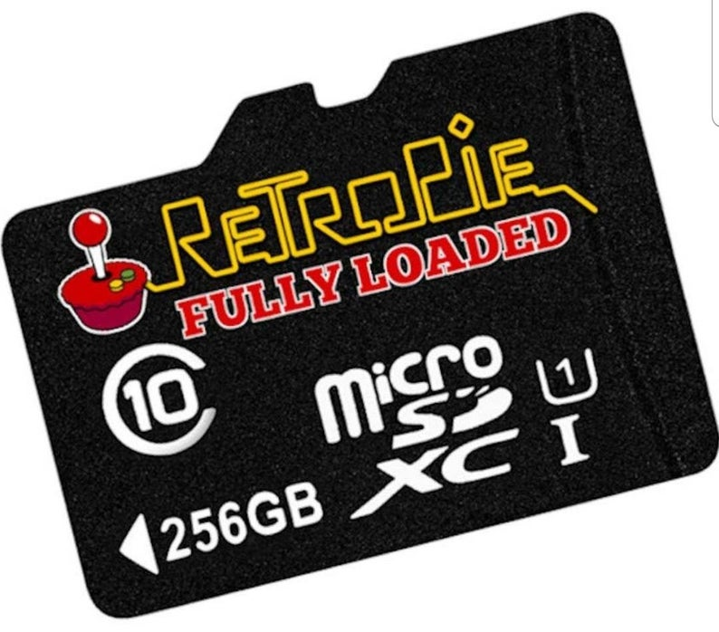RetroPie 4 Image 256GB Plug and Play MicroSD Card